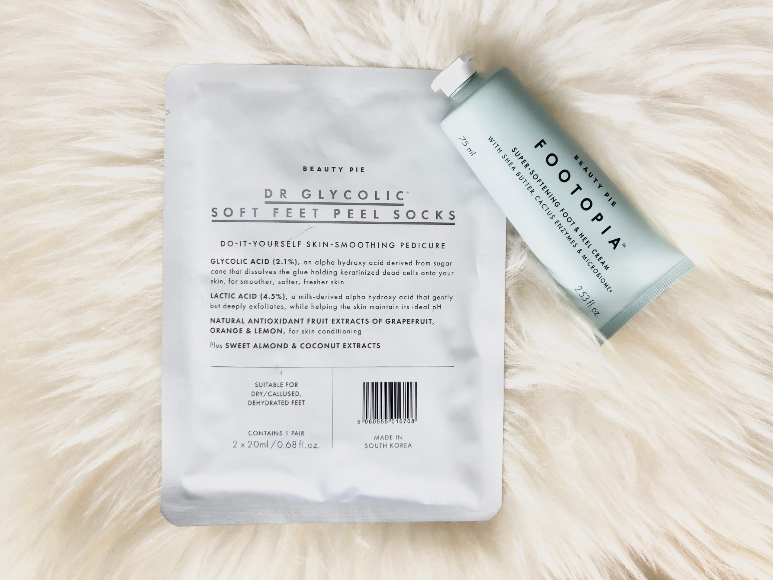 Beauty Pie Dr Glycolic Soft Feet Peel Socks and Footopia Foot and Heel Cream Review | Bicester Makeup Artist